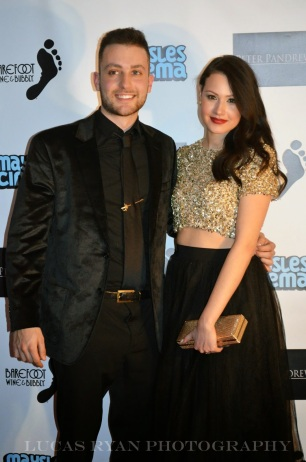 Elizabeth with co-star Nathan Marcus