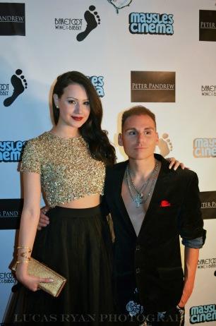 Elizabeth with Director/Writer/Actor Andrew Christie