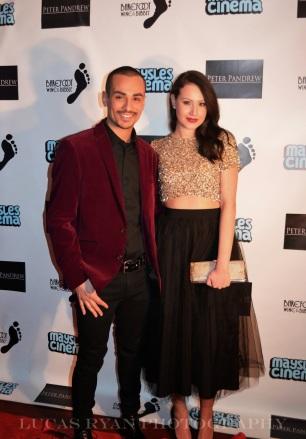 Elizabeth with actor Marcus Acosta