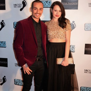 Elizabeth with actor Marcus Acosta